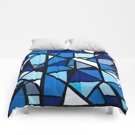Blue Geometric Comforters