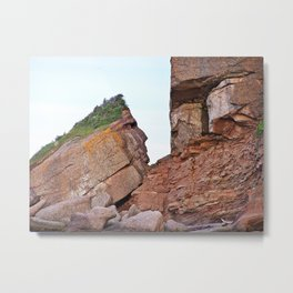 Indian Head Rock Metal Print