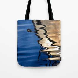 Blue white abstract Tote Bag