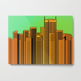 Cityscape Collage 04X Metal Print