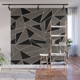 Geometric Abstract Origami Inspired Pattern Wall Mural