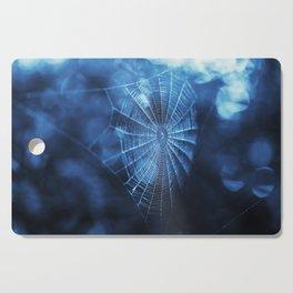 Spider Web in Blue Cutting Board