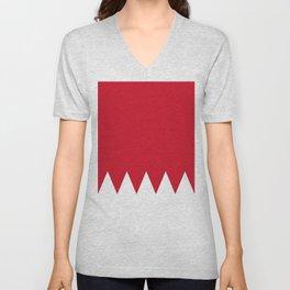 Flag Of Bahrain Unisex V-Neck