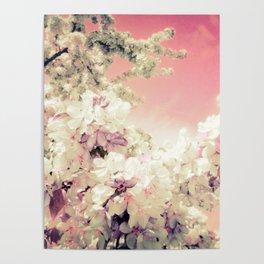 pink lavender flowers poster