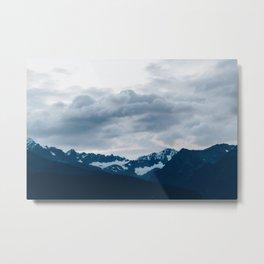 Alaskan Mountain Twilight Metal Print