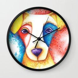 Dog Jack Russell Terrier JRT Original Art Confetti Wall Clock
