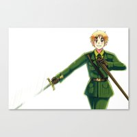 hetalia Canvas Prints featuring Hetalia England by Amymone Montoya