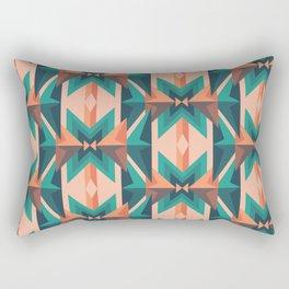 Low Poly Desert Bloom Rectangular Pillow