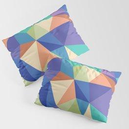 Colorful kaleidoscope modern geometric pattern Pillow Sham