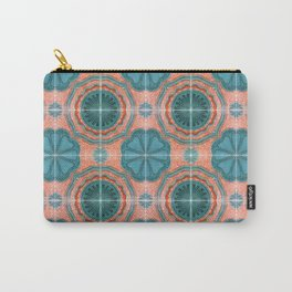 Portuguese Tiles Azulejos Blue Red Pattern Carry-All Pouch