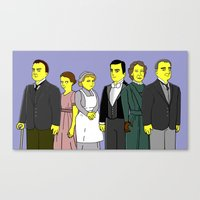 downton abbey Canvas Prints featuring Downton Abbey - Cast Downstairs - Six by DonnaHuntriss