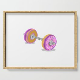 Donut Barbell Serving Tray