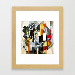 Desk And Room by Kazimir Malevich - Vintage Painting Framed Art Print