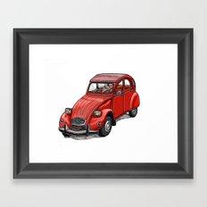 Red 2cv Framed Art Print