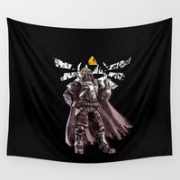 triforce Wall Tapestries featuring Triforce of Power by Domadraghi