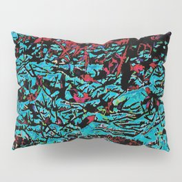 Flora Celeste Tourquoise Leaves Pillow Sham
