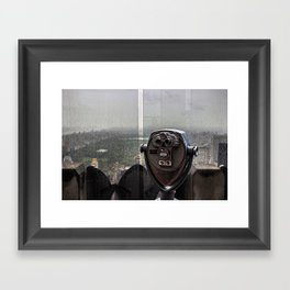 Top of the Rock NYC Framed Art Print