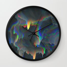 Glitch Background 10 Wall Clock
