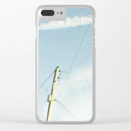 Crossed wires Clear iPhone Case