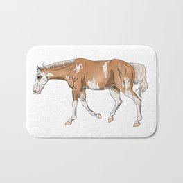 Sato, Palomino Sabino Thoroughbred Bath Mat