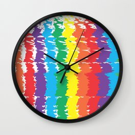 Rainbow Joy Abstract Wall Clock