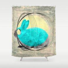 hypnotic rabbit Shower Curtain