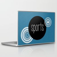 sports Laptop & iPad Skins featuring SPORTS by VIAINA DESIGN