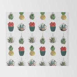 Festive Succulents Throw Blanket