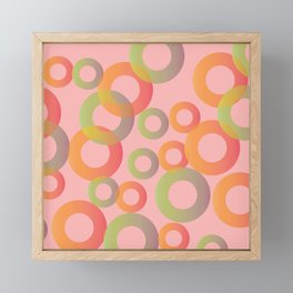 Circles Framed Mini Art Print