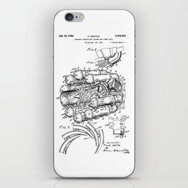 Jet Engine: Frank Whittle Turbojet Engine Patent iPhone Skin
