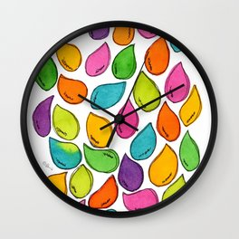 We Were Just Babies When We Were Born colorful pattern peaceful illustration ink painting abstract Wall Clock