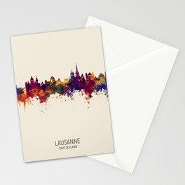Lausanne Switzerland Skyline Stationery Cards