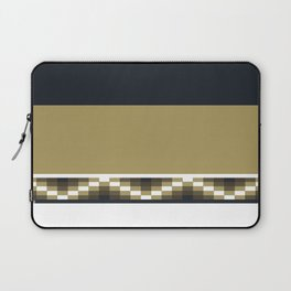 Block Wave Illustration 2 Digital Artwork Laptop Sleeve