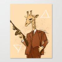 gangster Canvas Prints featuring Gangster Giraffe by Ichorteeth