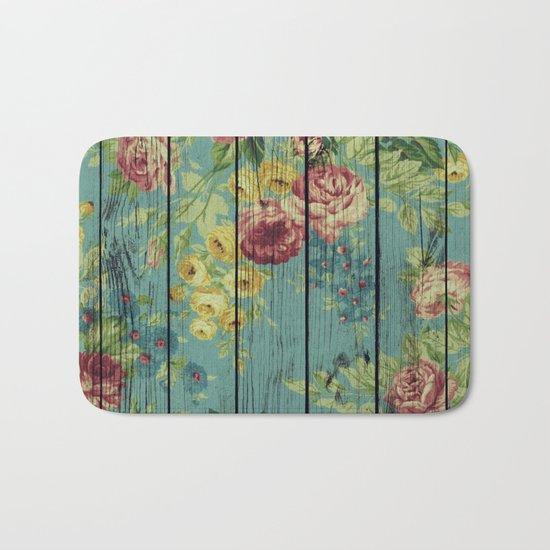 Flowers on Wood 08 Bath Mat