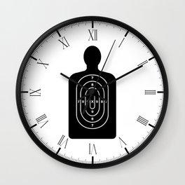 Human Shape Target Wall Clock