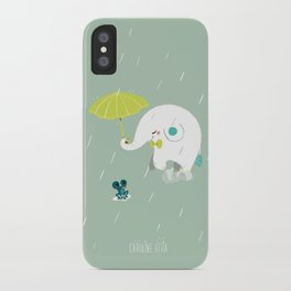 Rainy Elephant iPhone Case