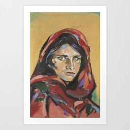 Afghan Girl (Sharbat Gula) Art Print