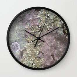Lichen Rock Wall Clock