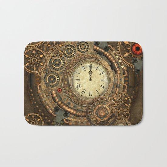 Steampunk, clockwork Bath Mat