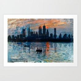 Boston Skyline 12 Art Print