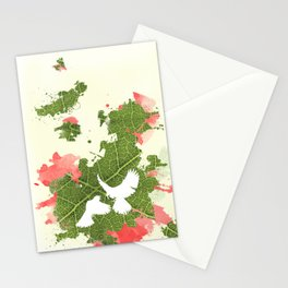 Leaf Bird Stationery Cards