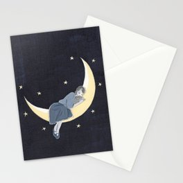 The light of the crescent moon Stationery Cards