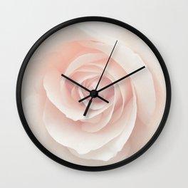 Blush Pink Rose Wall Clock