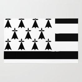Brittany flag emblem Rug