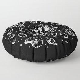 Geo-rex Vortex | White Floor Pillow