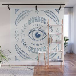 Wonder Seeker - Blue Wall Mural