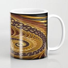 Elegant Black Gold Shell Coffee Mug