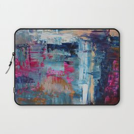 Evening On the Alpaca Farm Fine Art Abstract Painting Laptop Sleeve