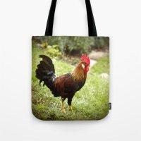 rooster Tote Bags featuring Rooster by Deborah Lehman